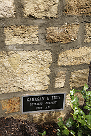 Outside Stonework With Gahagan-Eddy Plaque