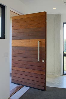 custom slat door