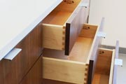 custom drawers in desk