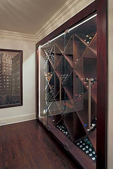 custom wine refrigerator and cabinet