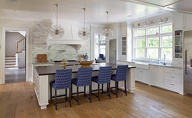 complete custom kitchen white cabinets